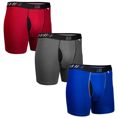 "2UNDR Swing Shift 6"" Boxer Brief Folds of Honor 3 Pack: 2UNDR Athletic Apparel"