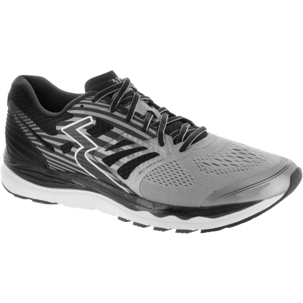 361 Meraki: 361 Men's Running Shoes Sleet/Black