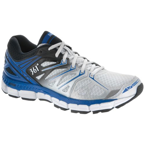361 Sensation: 361 Men's Running Shoes Gray/Black/Nautical Blue