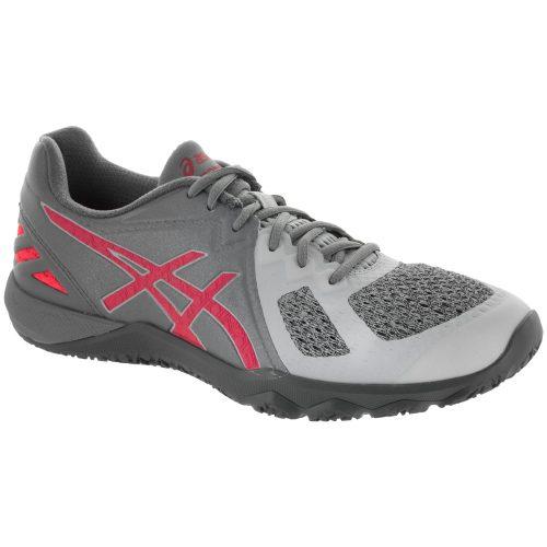 ASICS Conviction X: ASICS Women's Training Shoes Aluminum/Diva Pink/Glacier Grey