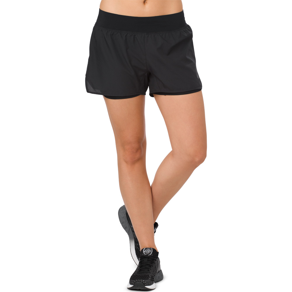 "ASICS Cool 2-n-1 3.5"" Shorts: ASICS Women's Running Apparel Spring 2018"