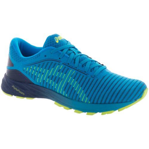 ASICS Dynaflyte 2: ASICS Men's Running Shoes Island Blue/Safety Yellow/Indigo Blue