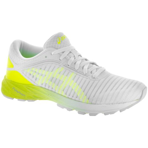 ASICS Dynaflyte 2: ASICS Women's Running Shoes White/Safety Yellow/Aruba Blue