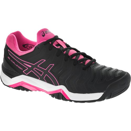 ASICS GEL-Challenger 11: ASICS Women's Tennis Shoes Black/Black/Hot Pink