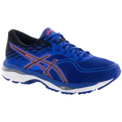 ASICS GEL-Cumulus 19: ASICS Women's Running Shoes Blue Purple/Black/Flash Coral