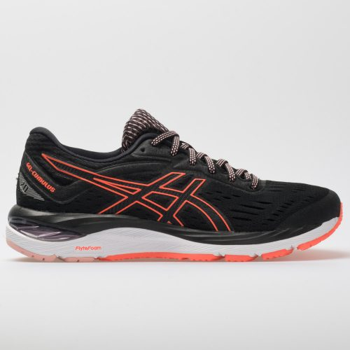 ASICS GEL-Cumulus 20: ASICS Women's Running Shoes Black/Flash Coral
