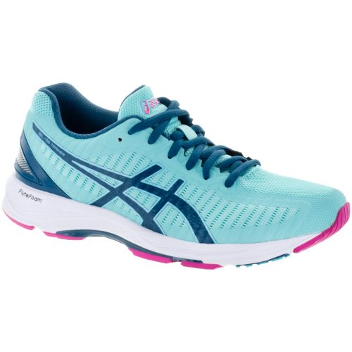 ASICS GEL-DS Trainer 23: ASICS Women's Running Shoes Aruba Blue/Ink Blue/Fuschia Purple
