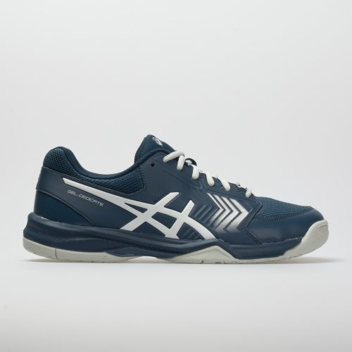 ASICS GEL-Dedicate 5: ASICS Men's Tennis Shoes Dark Blue/Silver/White