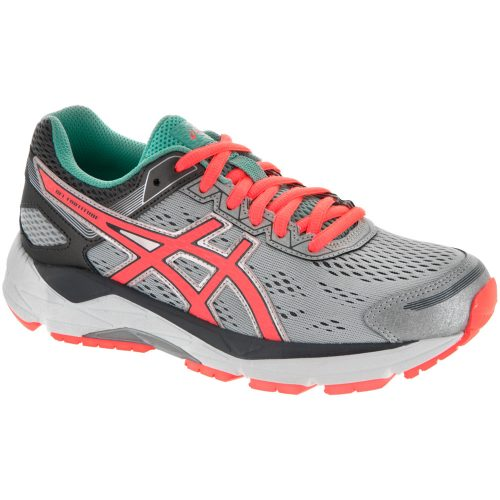 ASICS GEL-Fortitude 7: ASICS Women's Running Shoes Silver/Fiery Coral/Aqua Mint