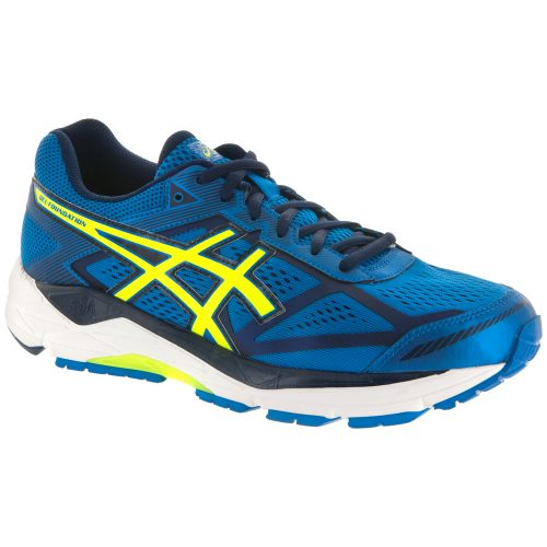 ASICS GEL-Foundation 12: ASICS Men's Running Shoes Electric Blue/Flash Yellow