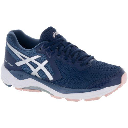 ASICS GEL-Foundation 13: ASICS Women's Running Shoes Indigo Blue/Silver/Seashell Pink