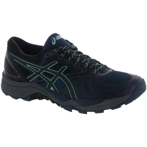 ASICS GEL-Fujitrabuco 6: ASICS Women's Running Shoes Insignia Blue/Black/Ice Green