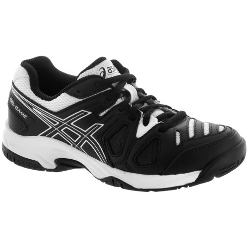 ASICS GEL-Game 5 Junior Black/White: ASICS Junior Tennis Shoes