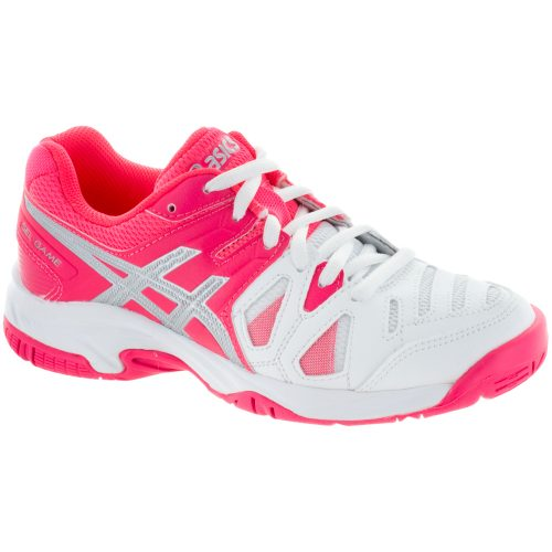 ASICS GEL-Game 5 Junior White/Diva Pink/Silver: ASICS Junior Tennis Shoes