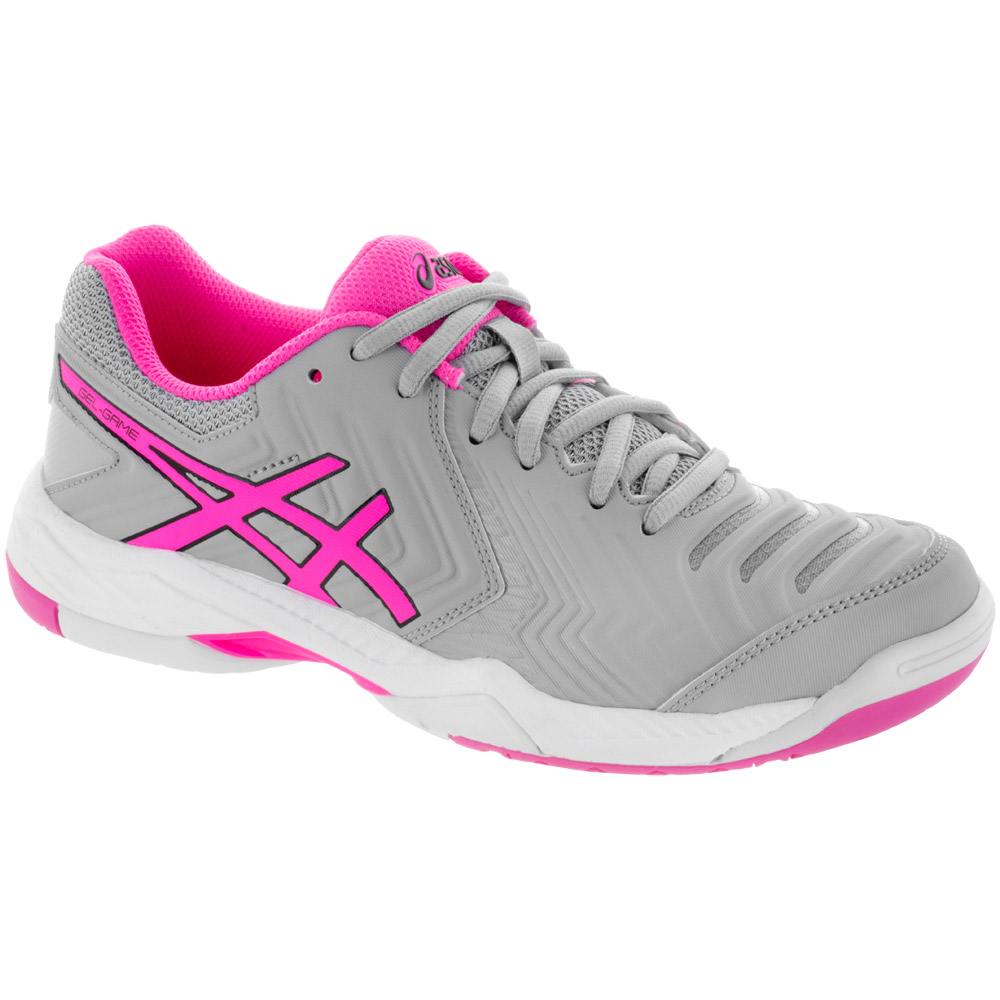 ASICS GEL-Game 6: ASICS Women's Tennis Shoes Mid Grey/Hot Pink/White