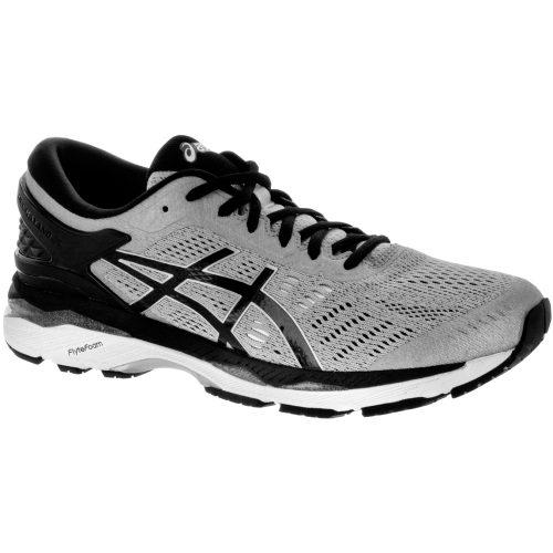 ASICS GEL-Kayano 24: ASICS Men's Running Shoes Silver/Black/Mid Grey