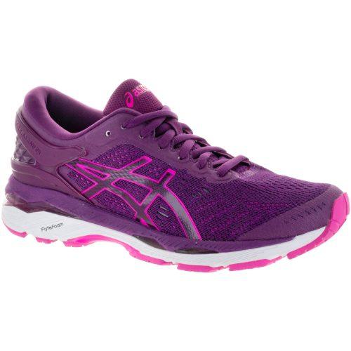 ASICS GEL-Kayano 24: ASICS Women's Running Shoes Prune/Pink Glow/White