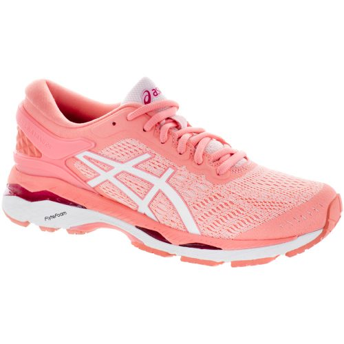 ASICS GEL-Kayano 24: ASICS Women's Running Shoes Seashell Pink/White/Begonia Pink