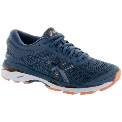 ASICS GEL-Kayano 24: ASICS Women's Running Shoes Smoke Blue/Dark Blue/Canteloupe