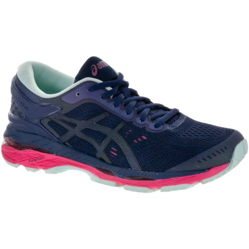 ASICS GEL-Kayano 24 Lite-Show: ASICS Women's Running Shoes Indigo Blue/Black/Reflective
