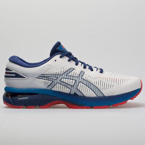 ASICS GEL-Kayano 25: ASICS Men's Running Shoes White/Blue Print