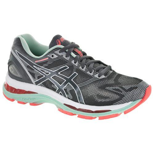 ASICS GEL-Nimbus 19: ASICS Women's Running Shoes Carbon/White/Flash Coral