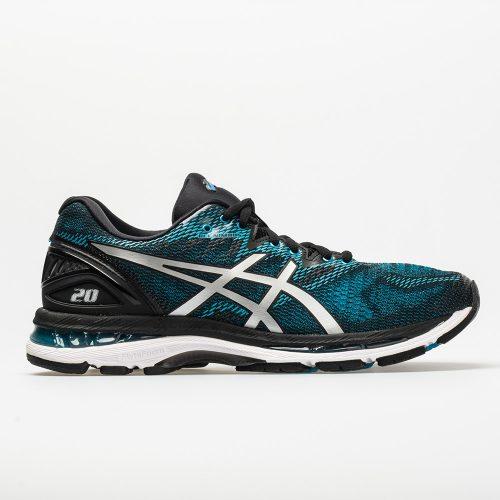 ASICS GEL-Nimbus 20: ASICS Men's Running Shoes Island Blue/White/Black
