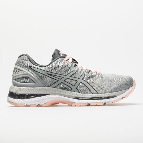 ASICS GEL-Nimbus 20: ASICS Women's Running Shoes Mid Grey/Mid Grey/Seashell