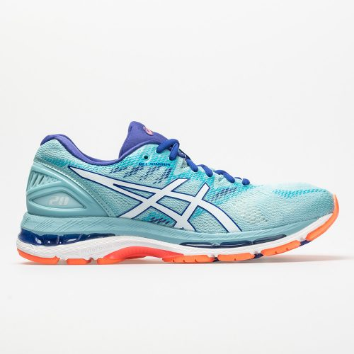 ASICS GEL-Nimbus 20: ASICS Women's Running Shoes Porcelain Blue/White/ASICS Blue