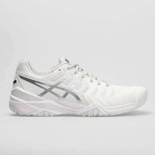 ASICS GEL-Resolution 7: ASICS Men's Tennis Shoes White/Silver