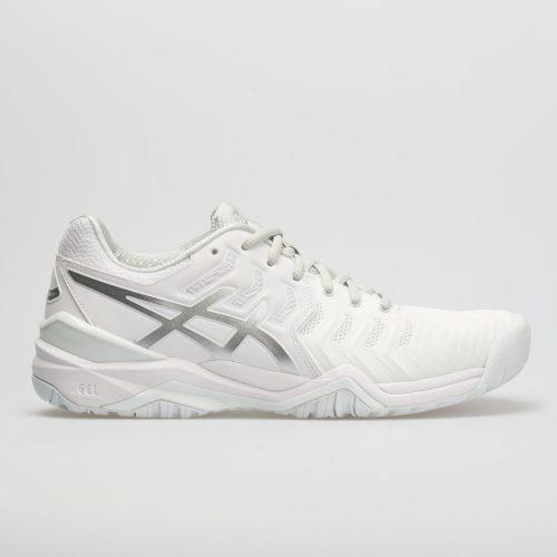 ASICS GEL-Resolution 7: ASICS Women's Tennis Shoes White/Silver