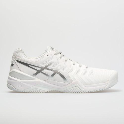 ASICS GEL-Resolution 7 Clay Court: ASICS Women's Tennis Shoes White/Silver