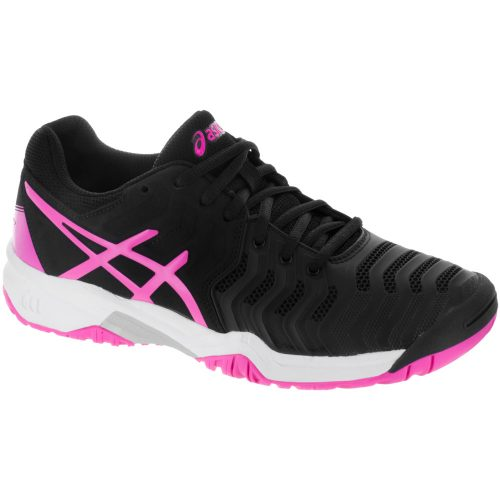 ASICS GEL-Resolution 7 Junior Black/Hot Pink/Silver: ASICS Junior Tennis Shoes