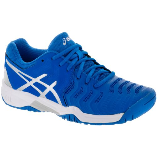 ASICS GEL-Resolution 7 Junior Directoire Blue/Silver/White: ASICS Junior Tennis Shoes