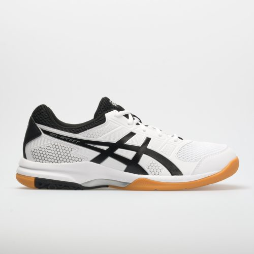 ASICS GEL-Rocket 8: ASICS Men's Indoor, Squash, Racquetball Shoes White/Black/Silver