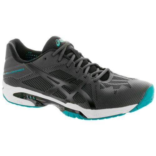 ASICS GEL-Solution Speed 3: ASICS Men's Tennis Shoes Dark Grey/Black/Lapis