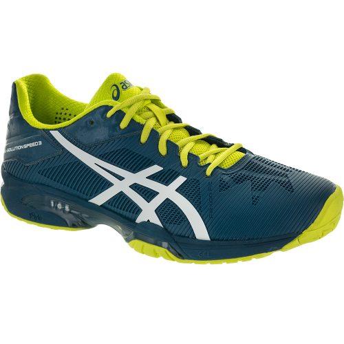 ASICS GEL-Solution Speed 3: ASICS Men's Tennis Shoes Ink Blue/White/Sulphur Springs