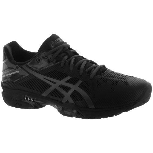 ASICS GEL-Solution Speed 3: ASICS Men's Tennis Shoes LE Black/Dark Grey/Phantom