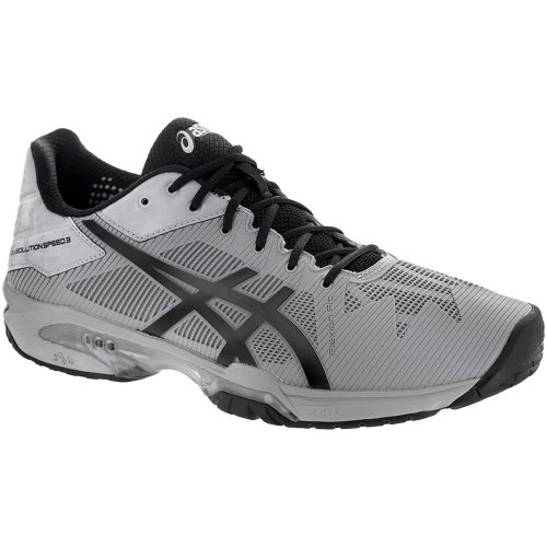 ASICS GEL-Solution Speed 3: ASICS Men's Tennis Shoes Mid Grey/Black