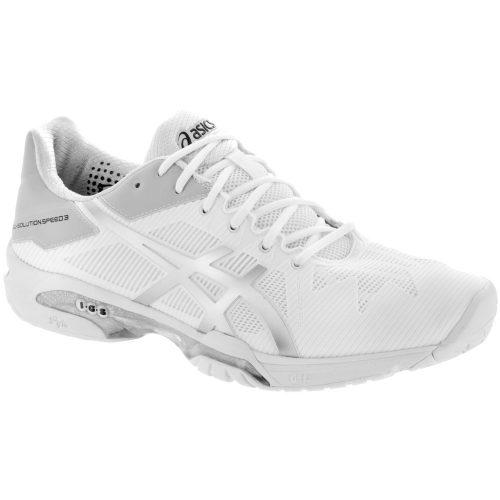 ASICS GEL-Solution Speed 3: ASICS Men's Tennis Shoes White/Silver