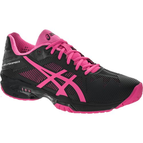 ASICS GEL-Solution Speed 3: ASICS Women's Tennis Shoes Black/Hot Pink/Silver