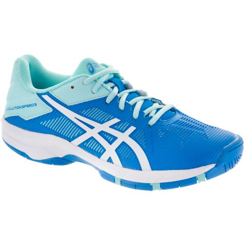 ASICS GEL-Solution Speed 3 Junior Aqua Splash/White/Diva Blue: ASICS Junior Tennis Shoes