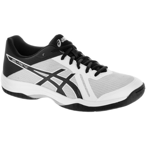 ASICS GEL-Tactic 2: ASICS Men's Indoor, Squash, Racquetball Shoes White/Black/Silver