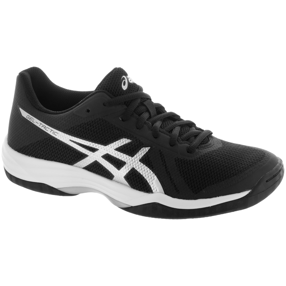 ASICS GEL-Tactic 2: ASICS Women's Indoor, Squash, Racquetball Shoes Black/Silver/White