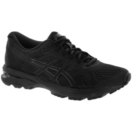ASICS GT-1000 6: ASICS Men's Running Shoes Black/Black/Silver
