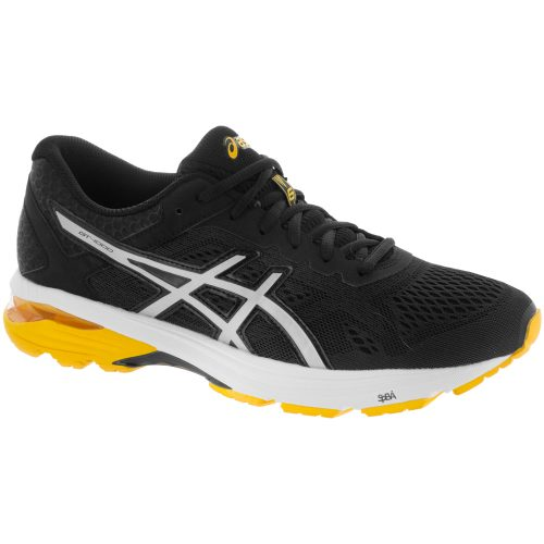 ASICS GT-1000 6: ASICS Men's Running Shoes Black/Silver/Gold Fusion