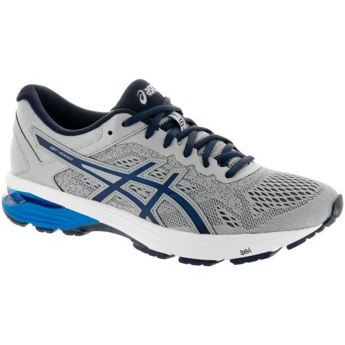 ASICS GT-1000 6: ASICS Men's Running Shoes Mid Grey/Peacoat/Directoire Blue