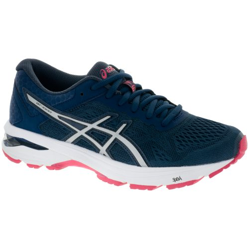 ASICS GT-1000 6: ASICS Women's Running Shoes Insignia Blue/Silver/Rouge Red