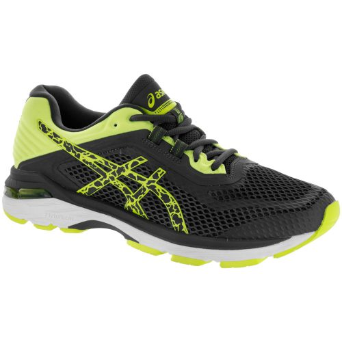 ASICS GT-2000 6 Lite-Show: ASICS Men's Running Shoes Dark Grey/Dark Grey/Safety Yellow