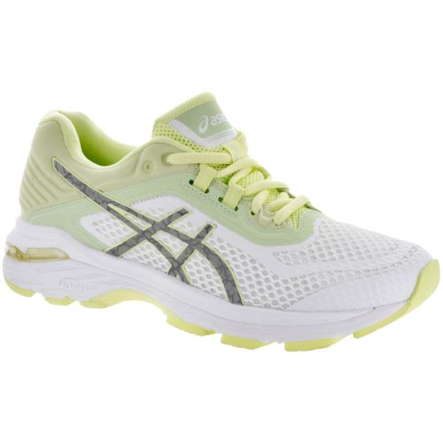 ASICS GT-2000 6 Lite-Show: ASICS Women's Running Shoes White/Silver/Limelight